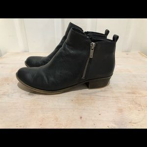 Black leather lucky brand booties